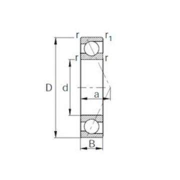 220 mm x 300 mm x 38 mm  CYSD 7944 angular contact ball bearings