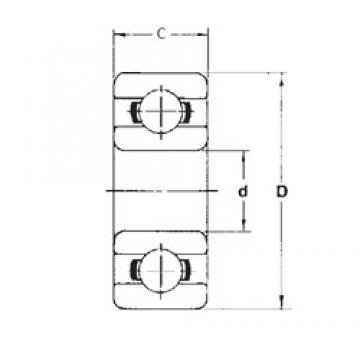 1,5 mm x 5 mm x 2,6 mm  FBJ 691XZZ deep groove ball bearings