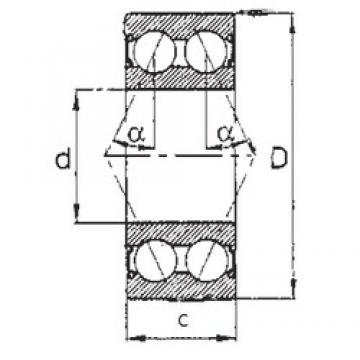 55 mm x 120 mm x 49,2 mm  FBJ 5311-2RS angular contact ball bearings