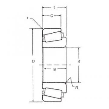 44,983 mm x 93,264 mm x 30,302 mm  FBJ 3776/3720 tapered roller bearings