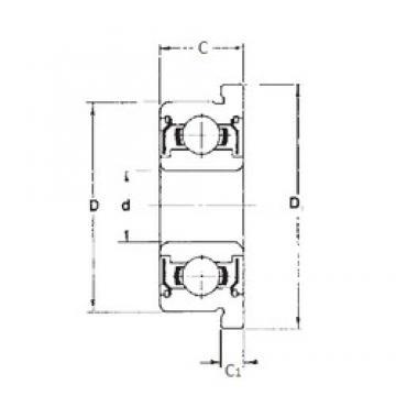 6 mm x 17 mm x 6 mm  FBJ F606ZZ deep groove ball bearings