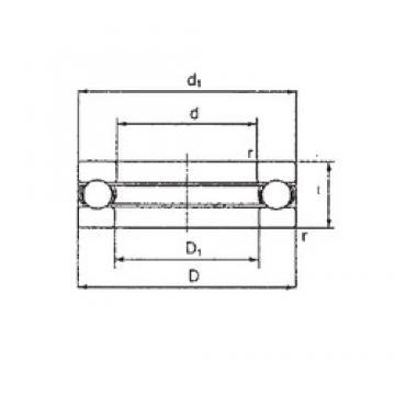 FBJ 2907 thrust ball bearings
