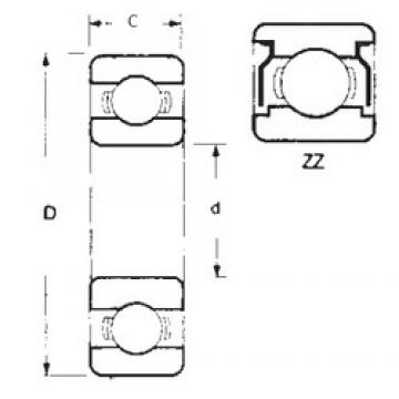 25 mm x 47 mm x 12 mm  FBJ 6005ZZ deep groove ball bearings