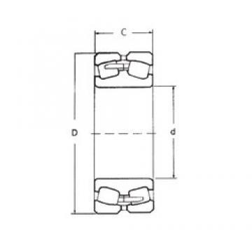 40 mm x 80 mm x 23 mm  FBJ 22208 spherical roller bearings