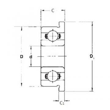 4,762 mm x 7,938 mm x 2,779 mm  FBJ FR156 deep groove ball bearings