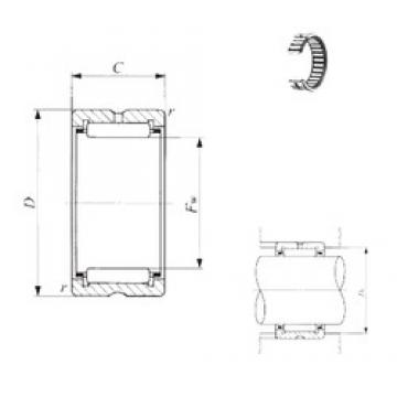 IKO TAF 809535 needle roller bearings
