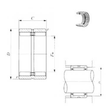IKO GTR 14017860 needle roller bearings