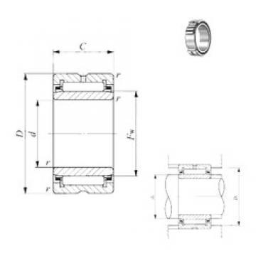 80 mm x 110 mm x 25 mm  IKO TAFI 8011025 needle roller bearings