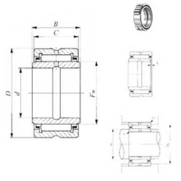 22,225 mm x 41,275 mm x 25,65 mm  IKO BRI 142616 needle roller bearings