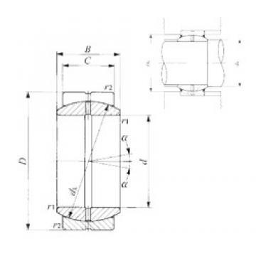 25 mm x 42 mm x 20 mm  IKO GE 25ES plain bearings