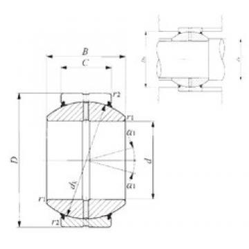 70 mm x 120 mm x 70 mm  IKO GE 70GS-2RS plain bearings