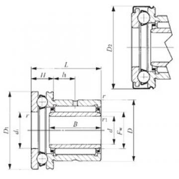 30 mm x 47 mm x 20 mm  IKO NAXI 3030Z complex bearings
