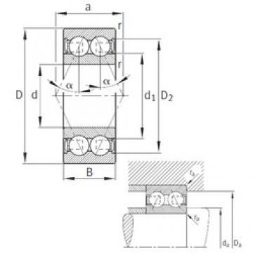 65 mm x 120 mm x 38,1 mm  FAG 3213-B-2RSR-TVH angular contact ball bearings