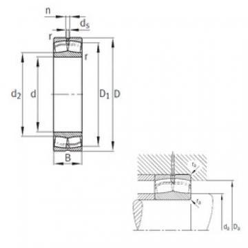 200 mm x 420 mm x 138 mm  FAG 22340-MB spherical roller bearings