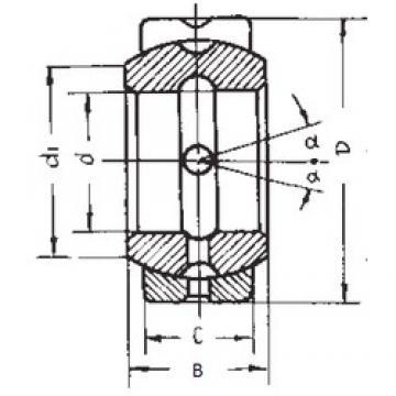 50,8 mm x 80,963 mm x 44,45 mm  FBJ GEZ50ES plain bearings