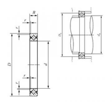 60 mm x 76 mm x 8 mm  IKO CRBS 608 thrust roller bearings