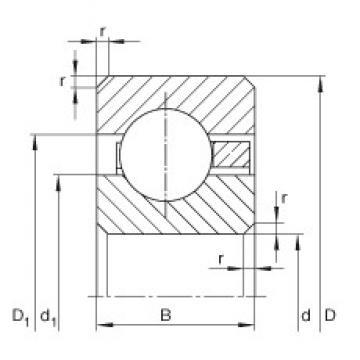 14 inch x 406,4 mm x 25,4 mm  INA CSCG140 deep groove ball bearings