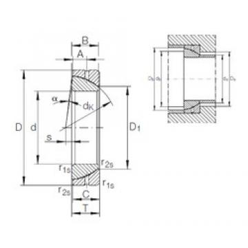 160 mm x 240 mm x 48 mm  INA GE 160 SX plain bearings