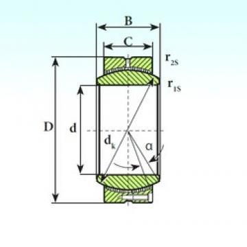 160 mm x 230 mm x 115 mm  ISB GE 160 CP plain bearings