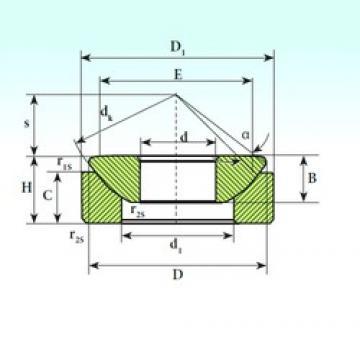 120 mm x 214 mm x 53,5 mm  ISB GX 120 CP plain bearings
