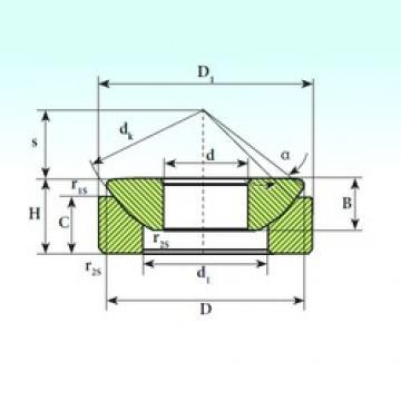 25 mm x 58,5 mm x 16,5 mm  ISB GX 25 SP plain bearings
