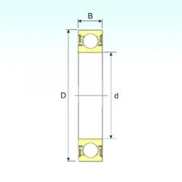 35 mm x 62 mm x 14 mm  ISB 6007-2RZ deep groove ball bearings