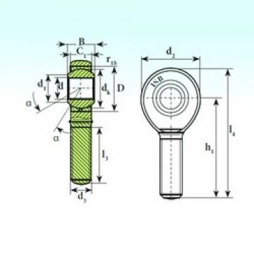 6 mm x 16 mm x 9 mm  ISB TSM 6 C plain bearings
