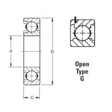 50 mm x 90 mm x 20 mm  Timken 210WG deep groove ball bearings