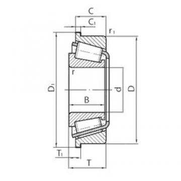 INA 712178100 tapered roller bearings