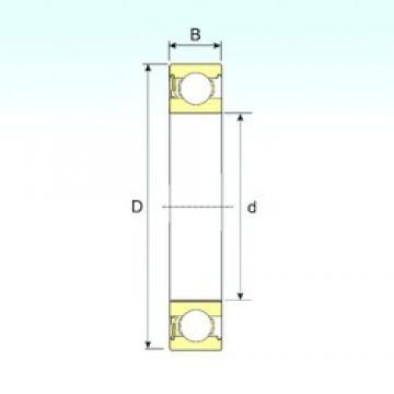 8 mm x 24 mm x 8 mm  ISB 628-RZ deep groove ball bearings
