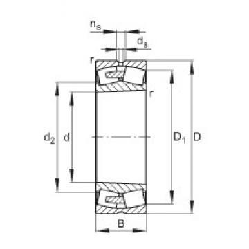 320 mm x 580 mm x 208 mm  FAG 23264-E1A-K-MB1 spherical roller bearings