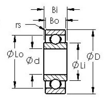 AST RW3 deep groove ball bearings