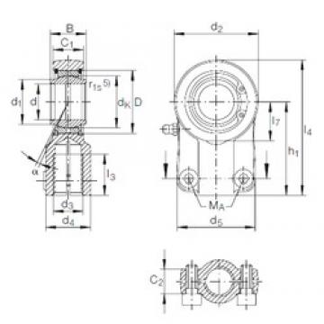 40 mm x 62 mm x 40 mm  INA GIHN-K 40 LO plain bearings