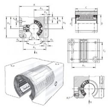 INA KGSNOS40-PP-AS linear bearings