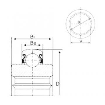 32,97 mm x 72 mm x 25 mm  CYSD 207KRRB12 deep groove ball bearings