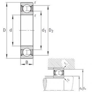 12 mm x 28 mm x 8 mm  FAG F-568368 deep groove ball bearings